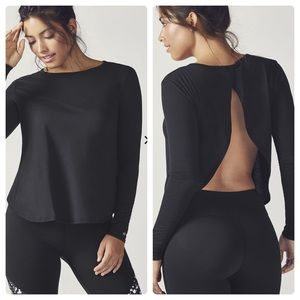 NWT Fabletics Open Back Long Sleeve top